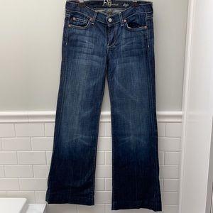 7 For all Manking Dojo flared wide leg jeans 28
